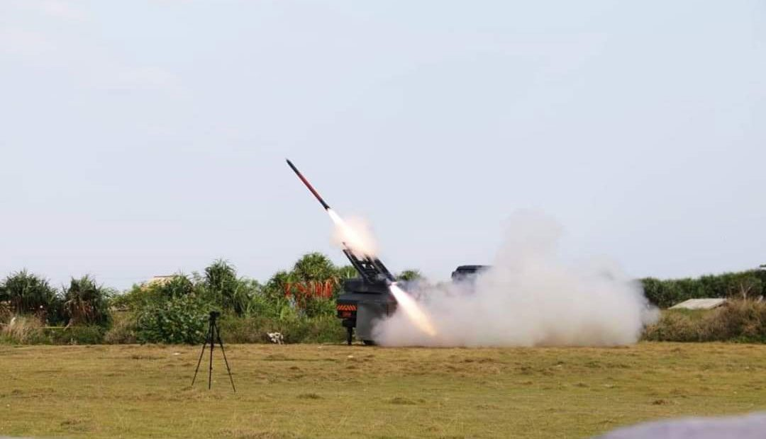 Roket R-Han 122B Kembali Diuji Coba Terbang di Garut
